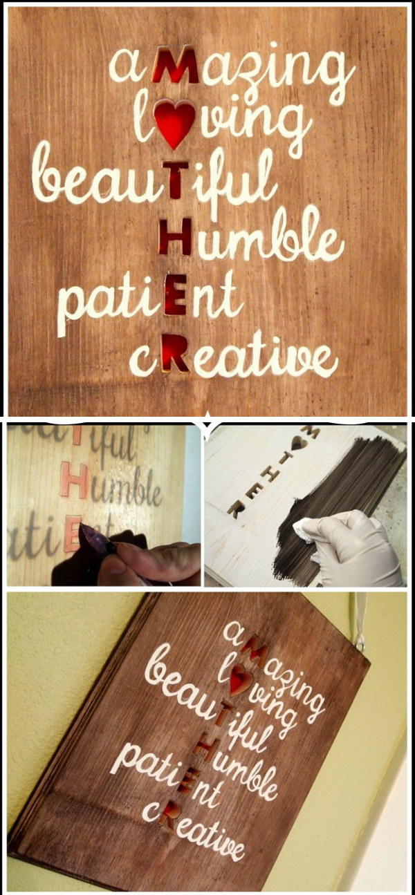 21 Meaningful DIY Plaque Wall Art for Mom