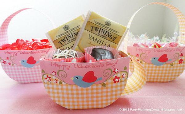 21 Teacup Printable Valentine Favor Box