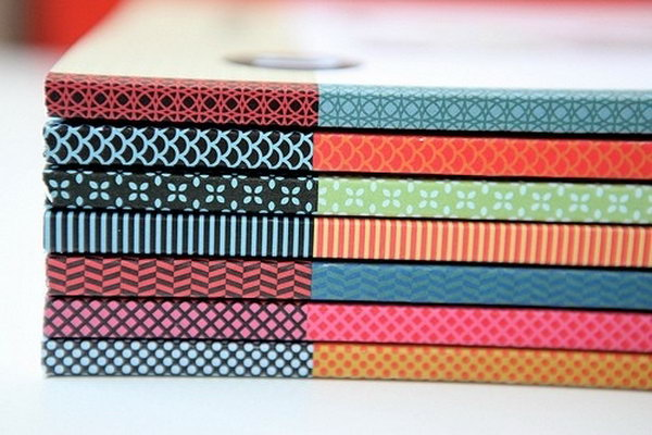 21 Washi Tape Used To Cover Book Spines