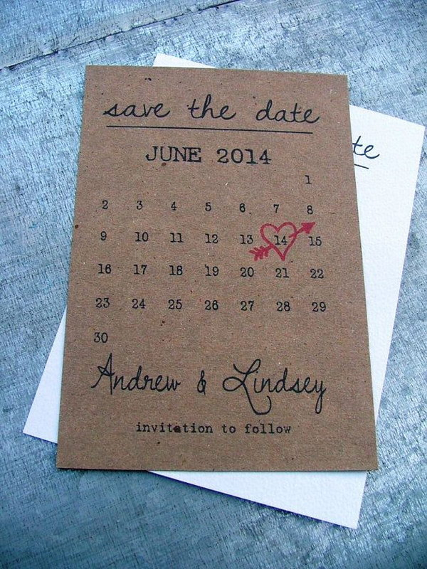 22 Printable Save the Date Cards