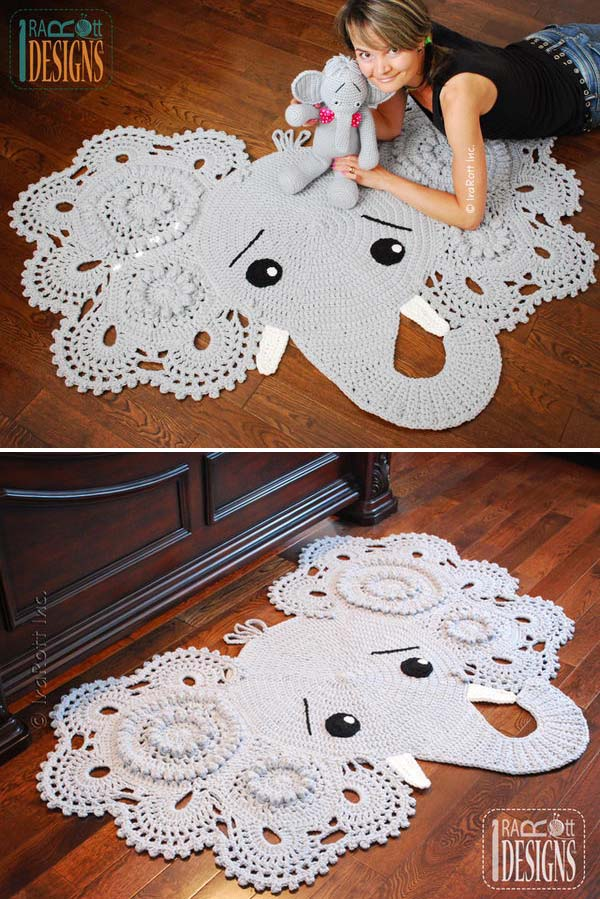 23 Crochet Elephant Rug