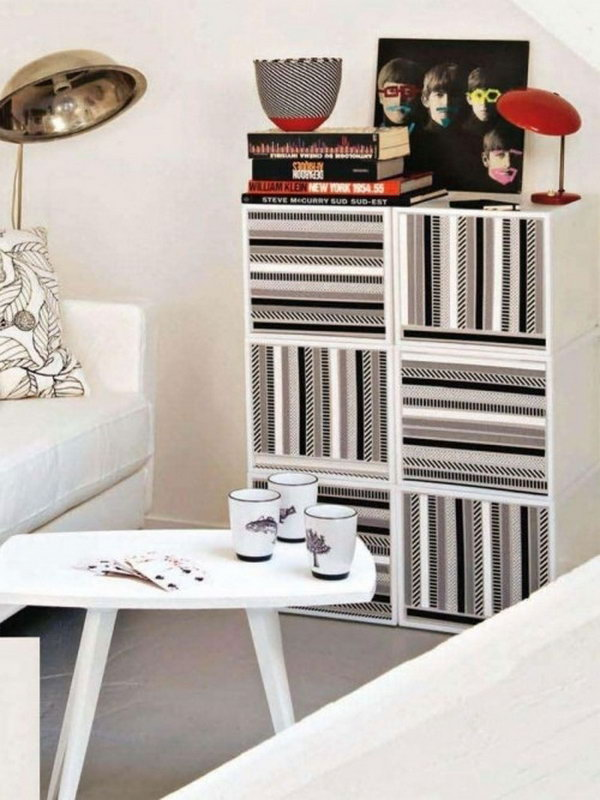 23 Furniture Hack with Washi Tape
