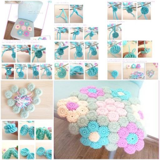24 Crochet Flower Hook Rug