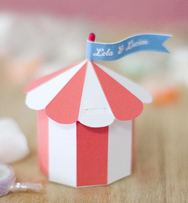 25 Circus Tent Gift Box