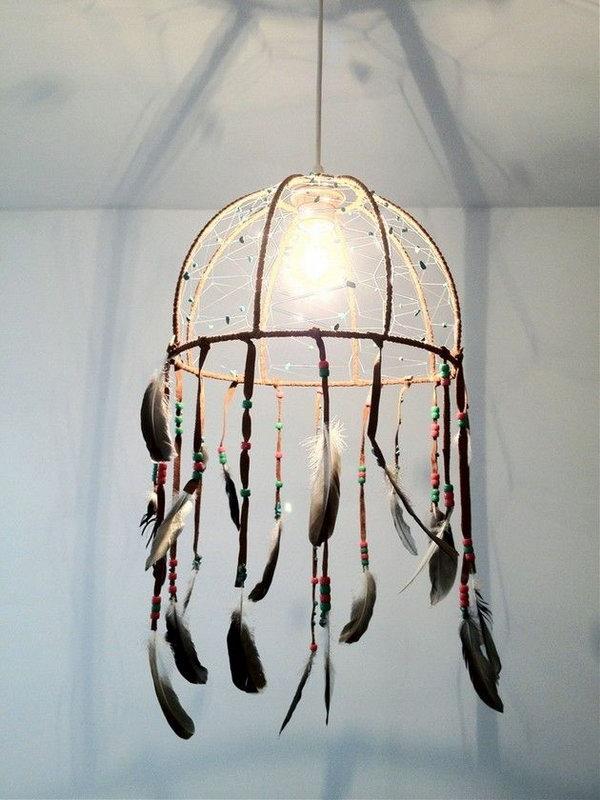 3 DIY Dream catcher Lamp