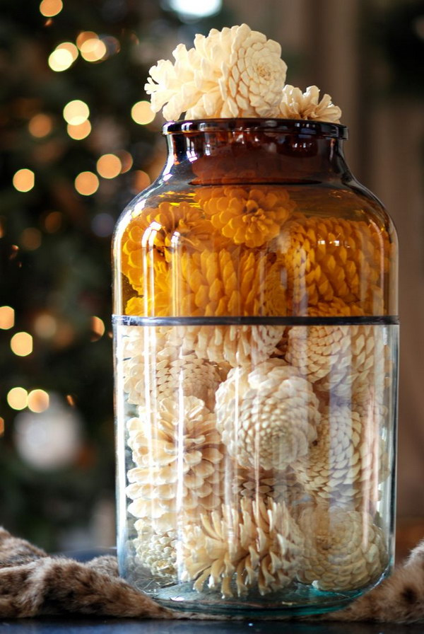 3 How to Bleach Pine Cones