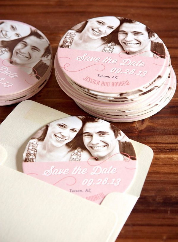 3 Wedding Coaster Save the Date