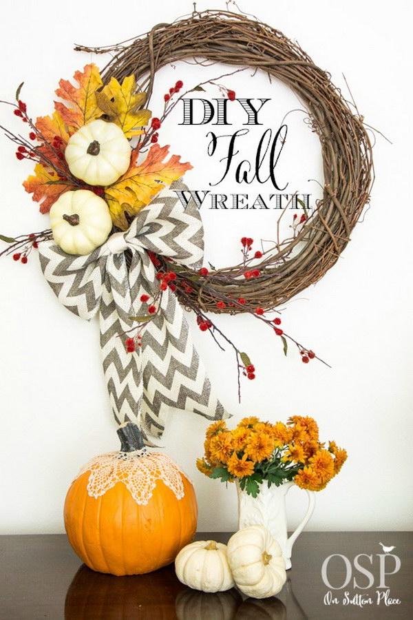 31 DIY Fall Wreath