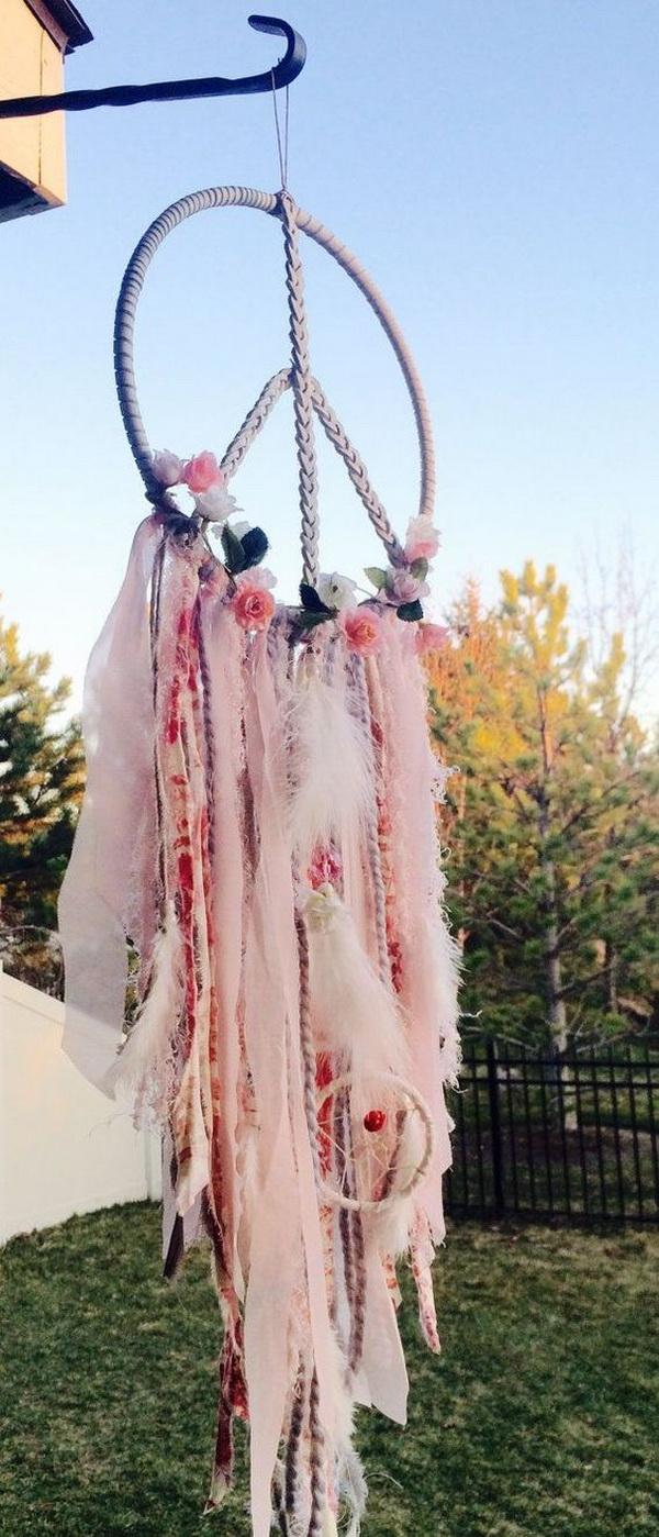 4 Beautiful Blush Pink Dream Catcher