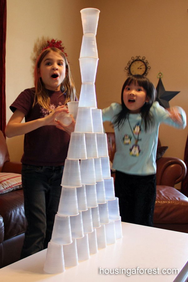4 Cup Stacking Game for Kids