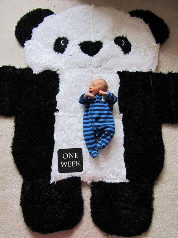 4 DIY Over-sized Panda Rug