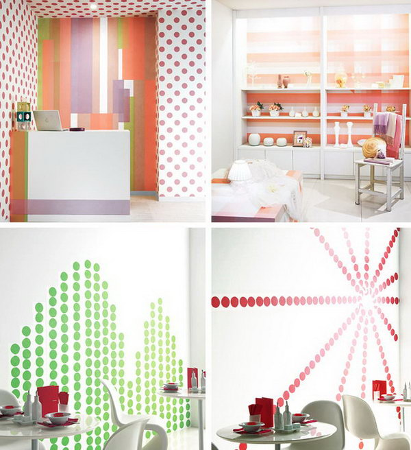 4 Washi Tape Used as the Wallpaper