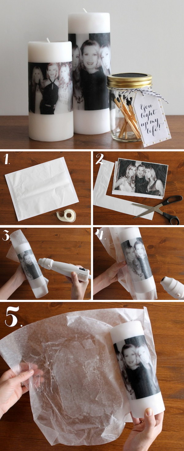 5 DIY Mother's Day Photo Candle