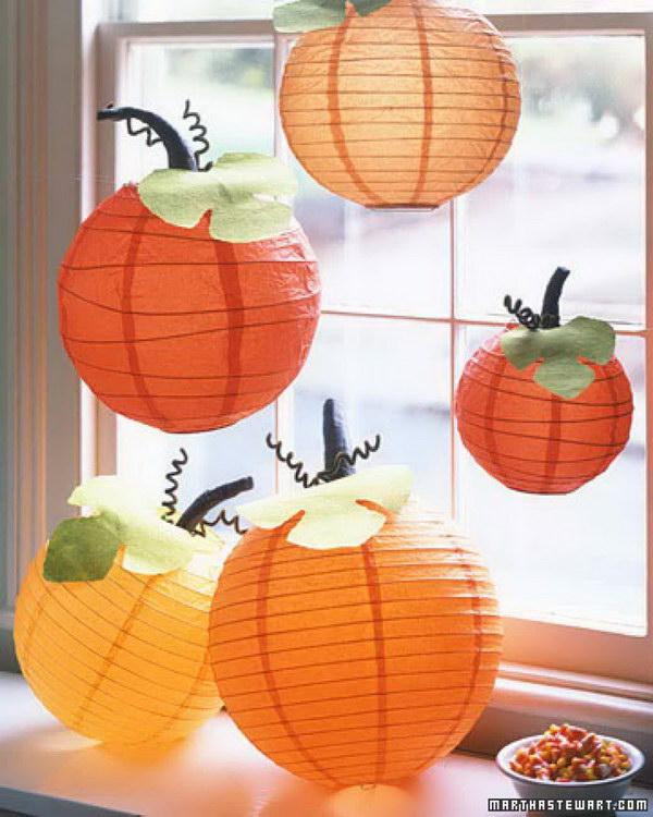 5 Homemade Paper Pumpkin Lanterns