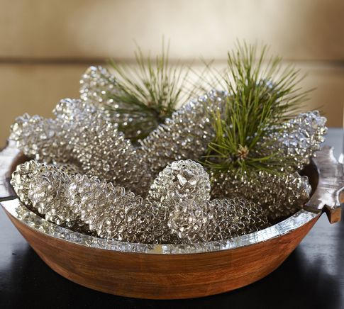 5 Mercury Glass Look Spray Paint Pine Cones