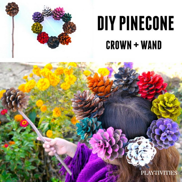 5 Pinecone Crown and Wand