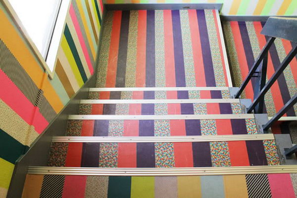 5 Stair Decoration with Washi Tape
