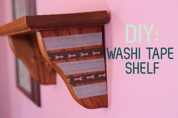 6 Decorate a Wall Shelf With Washi Tape