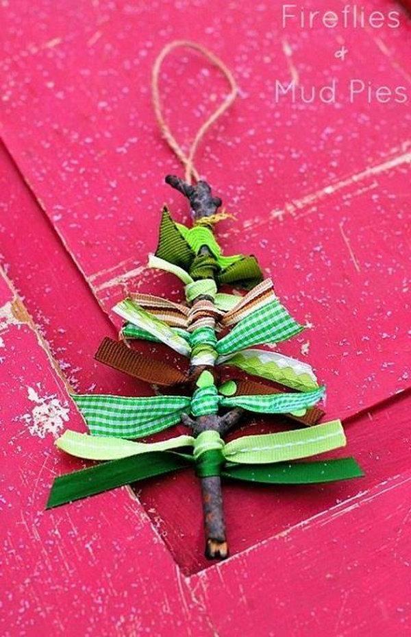 6 Scrap Ribbon Christmas Tree