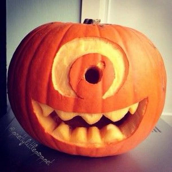 7 Monster Carved Pumpkin