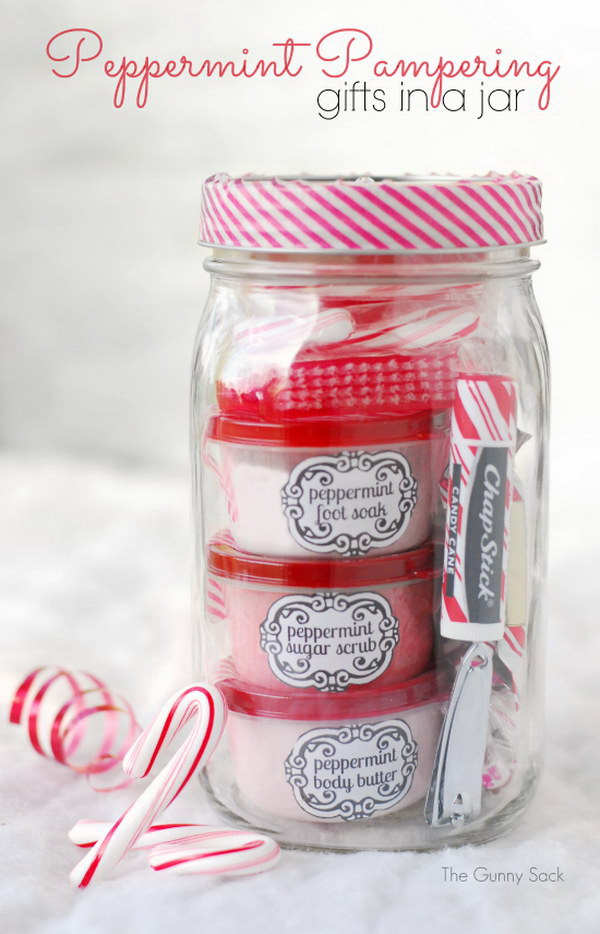 7 Peppermint Pampering Gifts In Jars