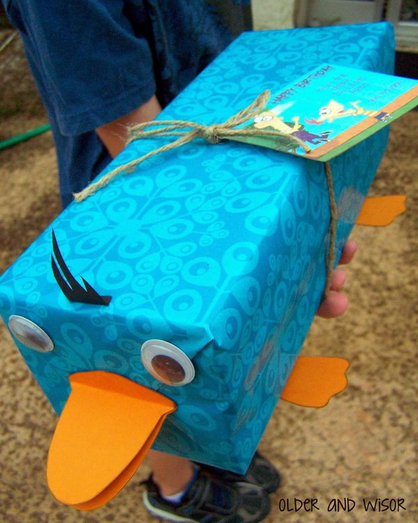 7 Perry the Platypus Gift Wrapping