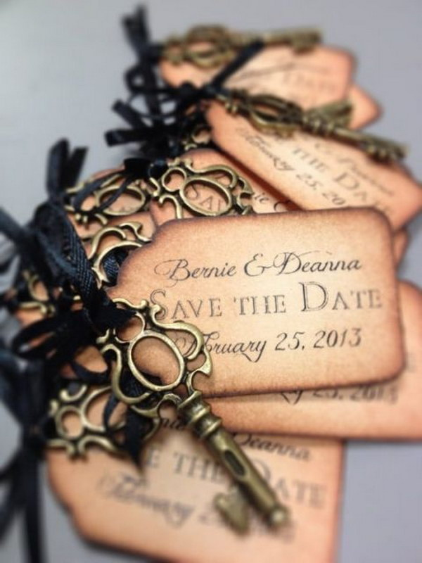 7 Save the Date Tags with Keys