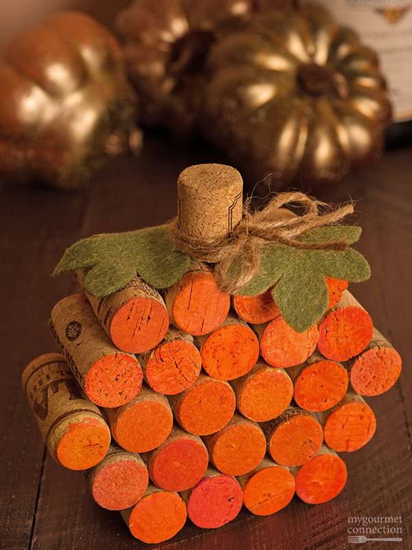 7 Wine Cork Pumpkin
