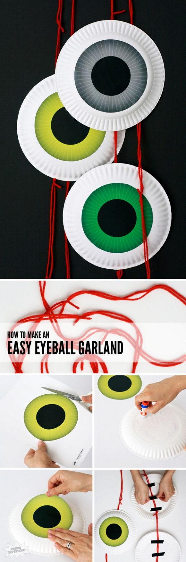 8 Cute DIY Halloween Eyeball Door Garland