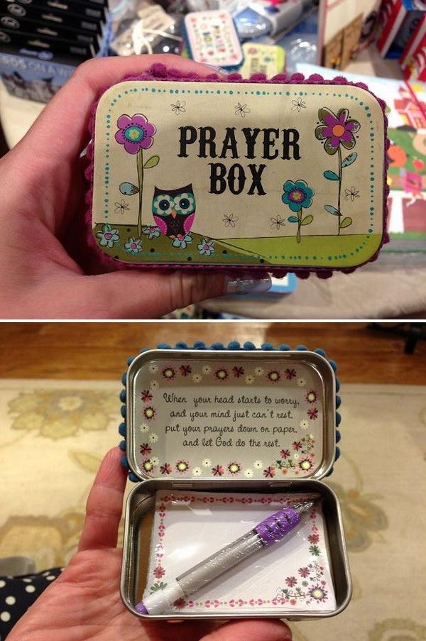 8 DIY Altoid Tin Prayer Box