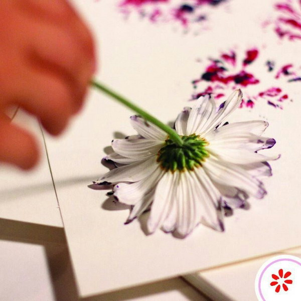 8 DIY Flower Head Print Beautiful Watercolor Gift Wrapping
