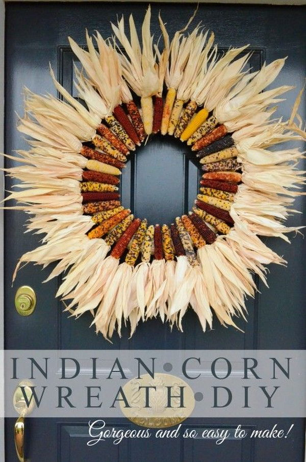8 DIY Indian Corn Wreath