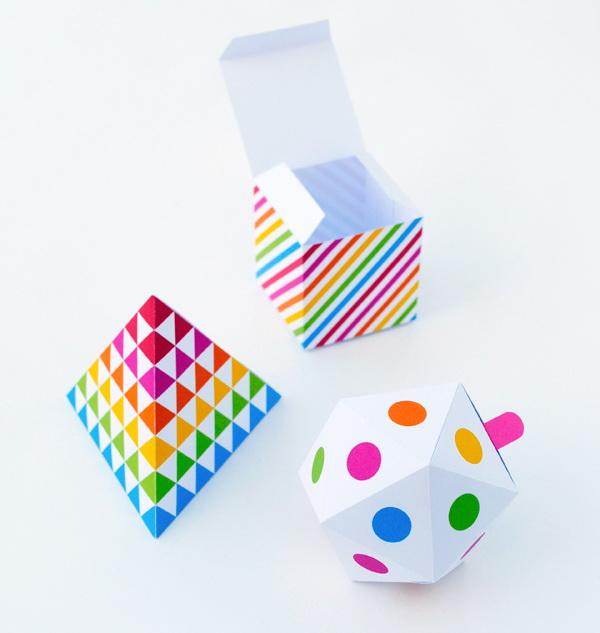 8 Geometric Patterned Gift Box