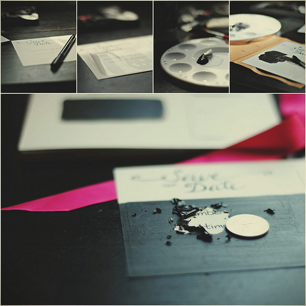 8 Scratch Off Save the Date Cards Tutorial