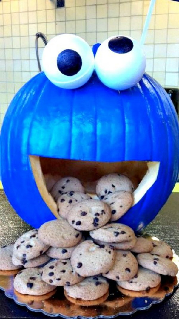 9 Cookie Monster Pumpkin