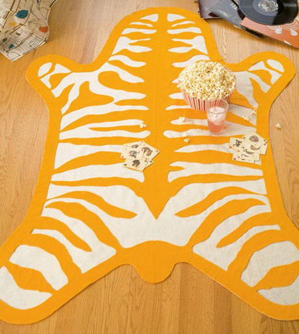9 DIY Nursery Zebra Print Rug