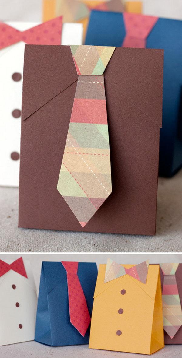 9 DIY Shirt & Tie Gift Boxes