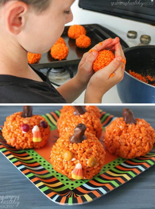 9 Easy Pumpkin Krispies Treats