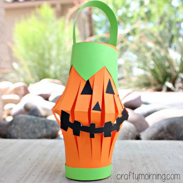 9 Easy to Make Pumpkin Toilet Paper Roll Lantern
