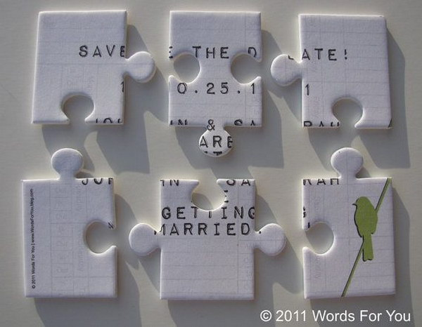 9  Foam Save the Date Puzzle Message Card