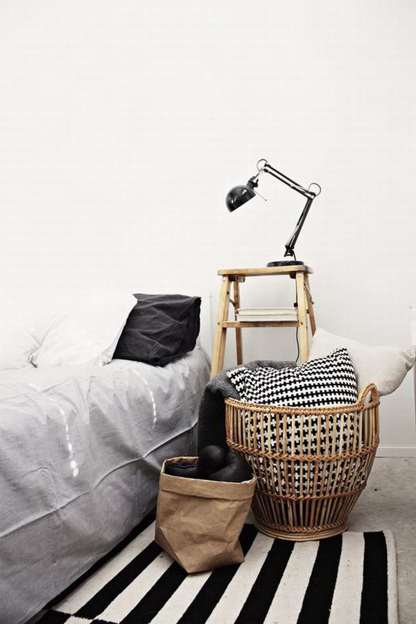 1 Cool Nightstand with Old Ladder