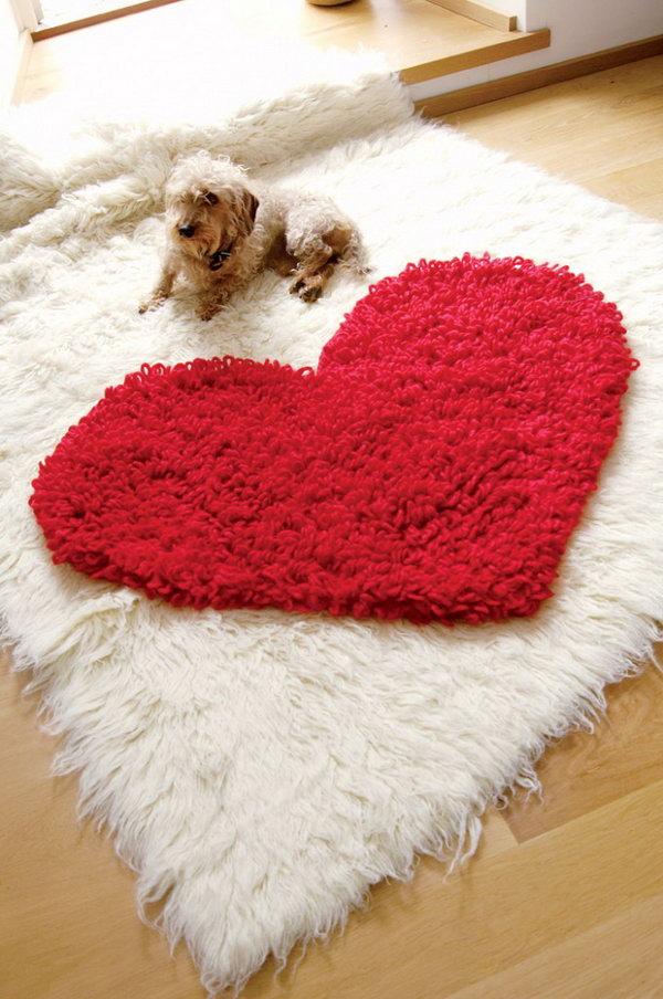 1 Crochet Heart Rug