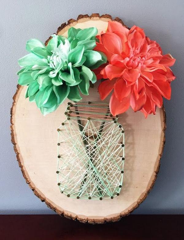 1 DIY Mason Jar String Art Tutorial