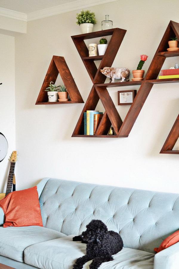 1 DIY Triangle Shelves