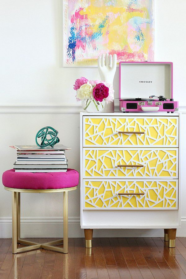 1 Modern and Bright Ikea Dresser Hack for Girls