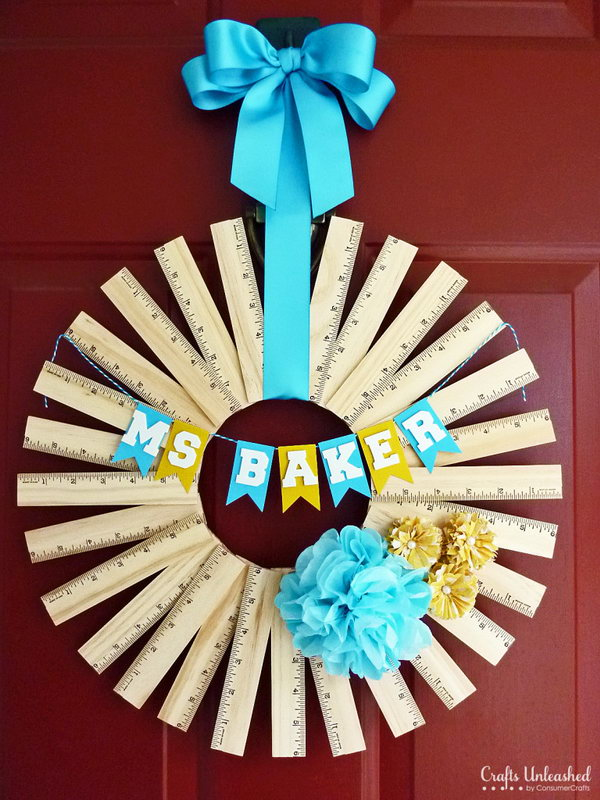 1 Personalized Ruler Wreath