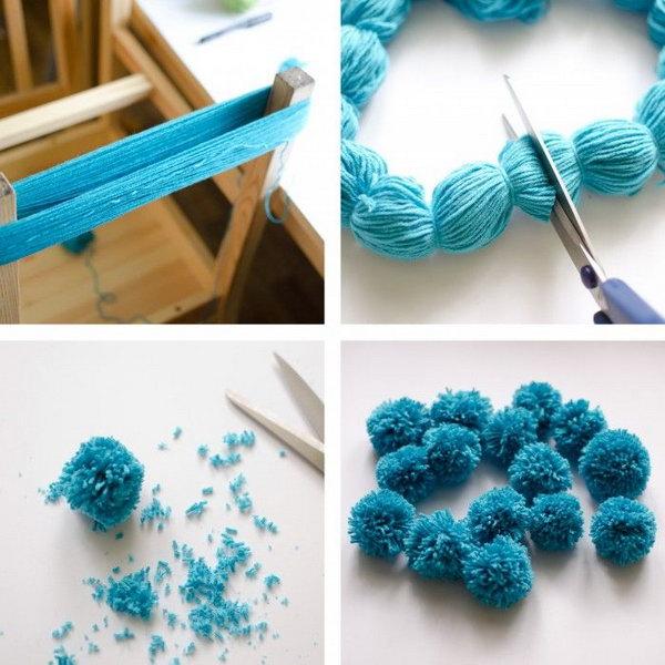 1 The Easiest Ever Yarn Pom-poms DIY Tutorial