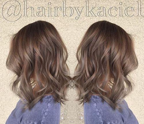 1 ash brown hair