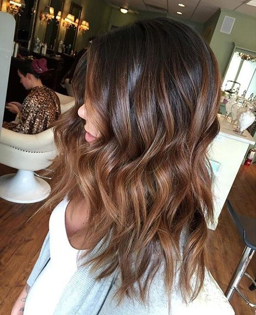 1 brown ombre highlights for black hair