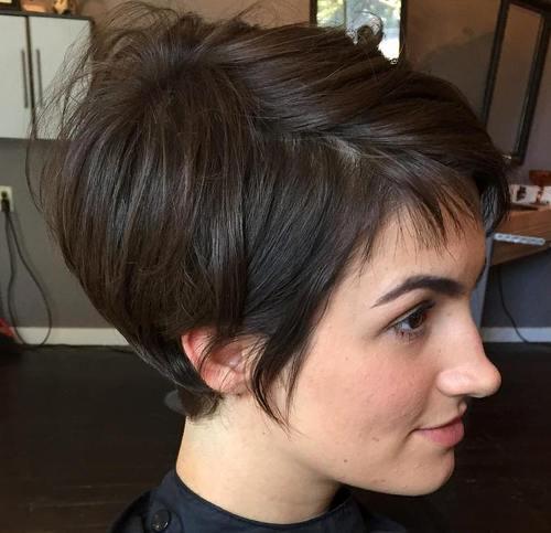 1 brunette pixie bob haircut